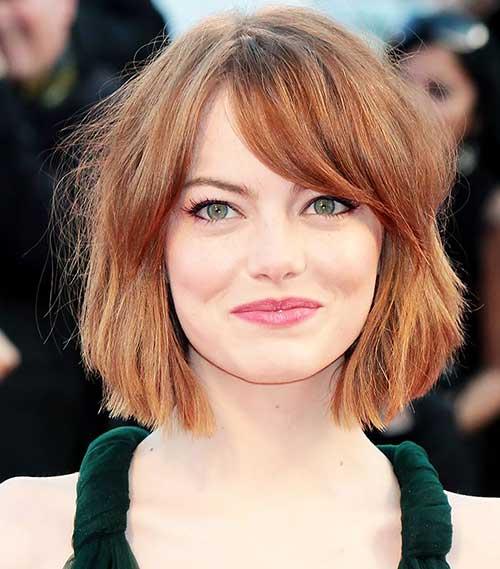Emma Stone Soft Wavy Bob Haircuts