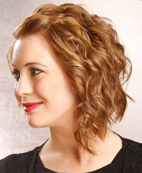 Medium Short Haircuts for Wavy Hair