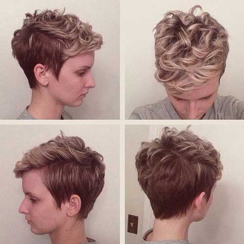 Hairstyles for Curly Short Haircuts