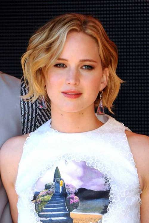 Jennifer Lawrence Best Bob Haircut 2015
