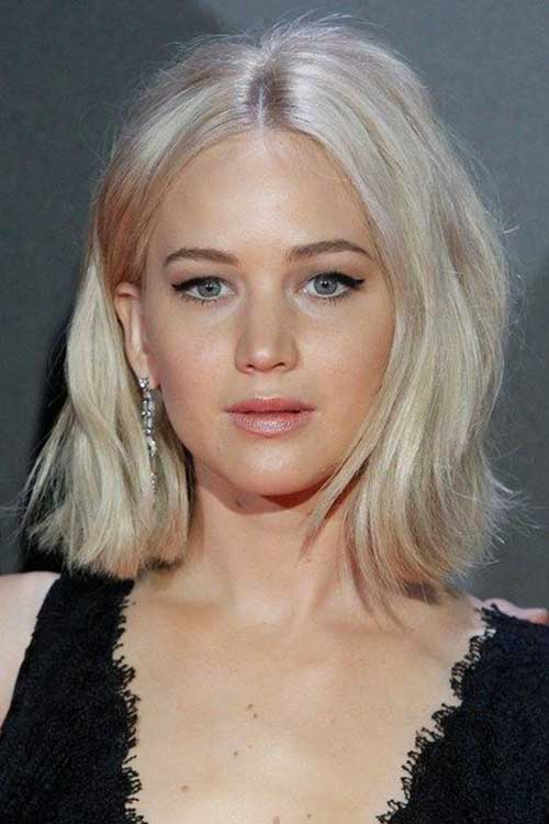 Jennifer Lawrence New Bob Haircuts