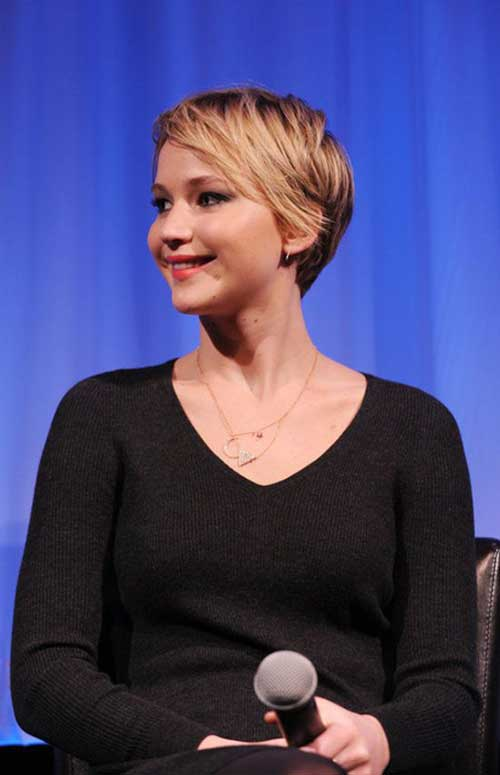 Jennifer Lawrence Nice Short Haircuts