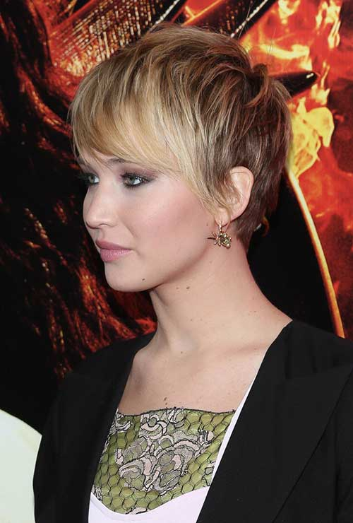 Jennifer Lawrence Short Hair Side View