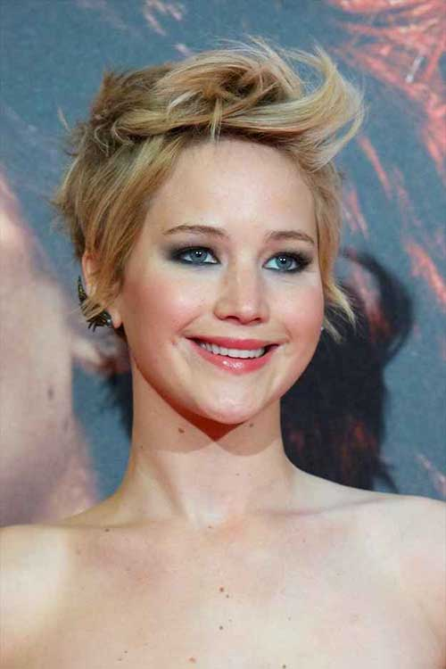 Jennifer Lawrence Stylish Short Hair Styles