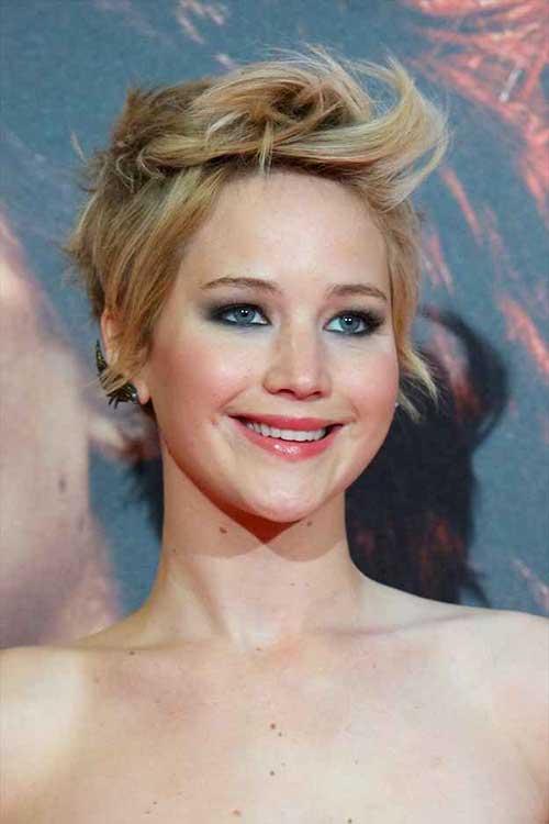 Jennifer Lawrence Stylish Short Hair Styles