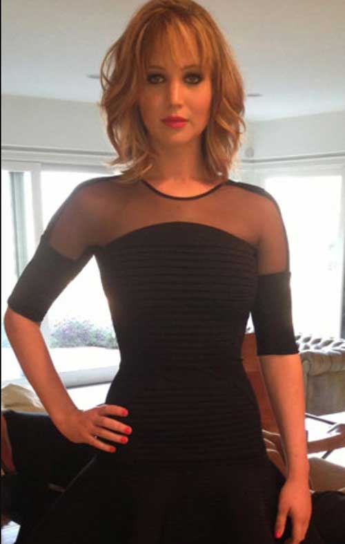 Jennifer Lawrence Short Wavy Hair Cuts