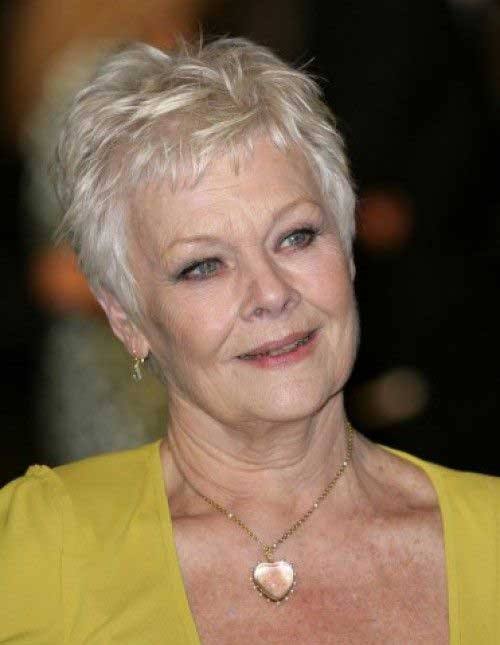 Judi Dench Short Haircuts