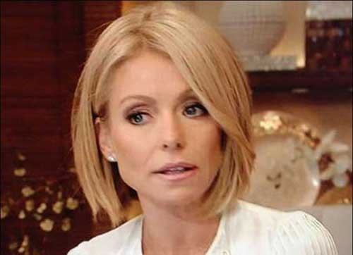 Kelly Ripa New Bob Cuts