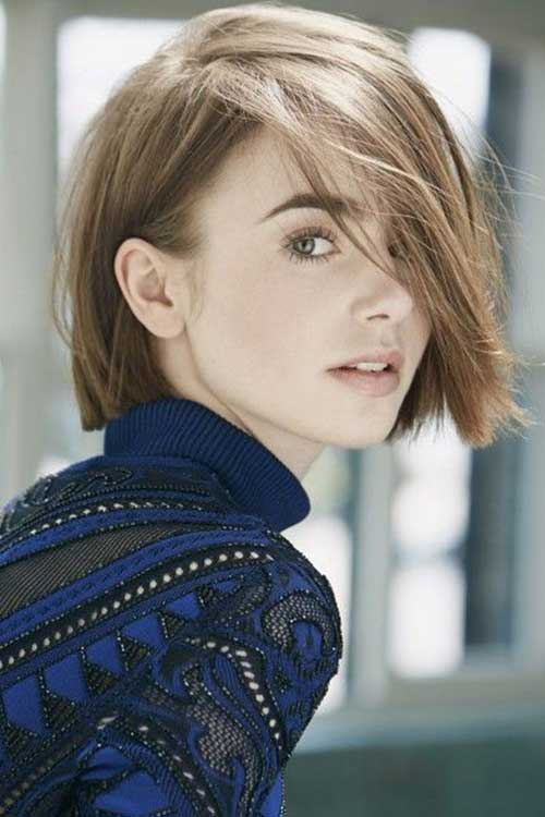 Lily Collins Bob Hairstyles