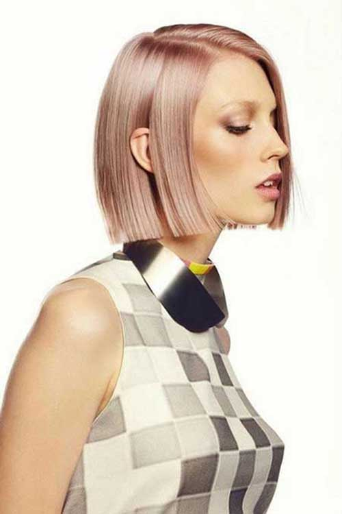 Pink Blonde Bob Hair Color Trend 2015