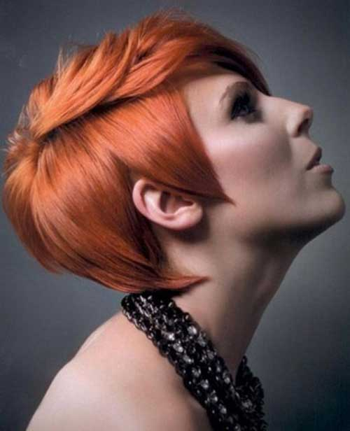 Red Color Trends Pixie Cut