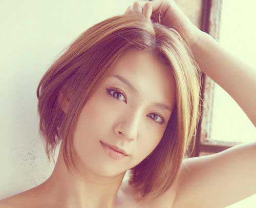 Short Asian Nice Brown Bob Color Trends 2015