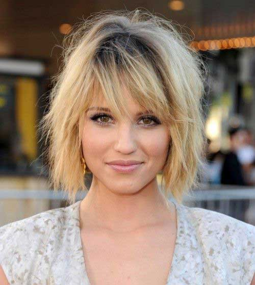 Short Layered Hair for Round Face