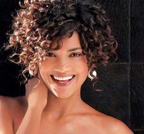 10.Short Haircut for Curly Hair