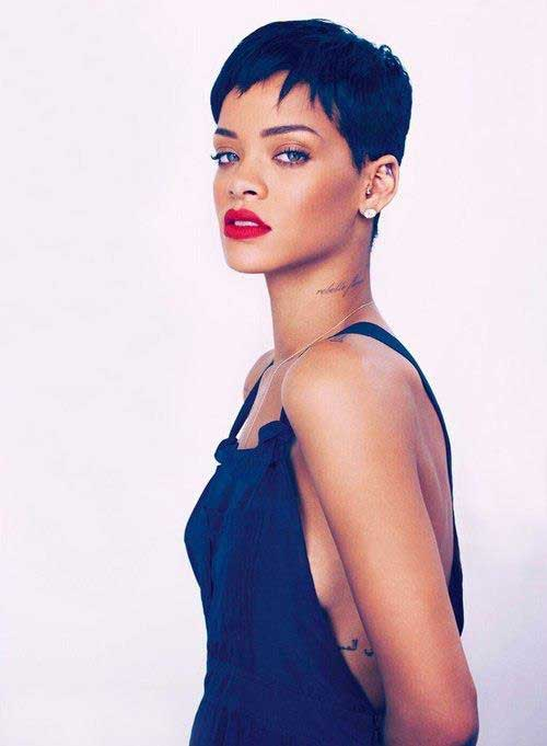20 Best Rihanna Pixie Cuts Short Hairstyles Amp Haircuts