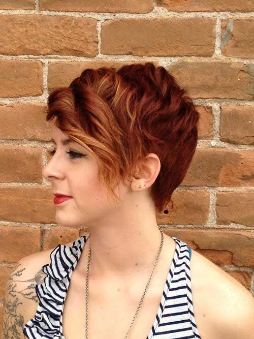 11.Short Red Curly Hairstyle
