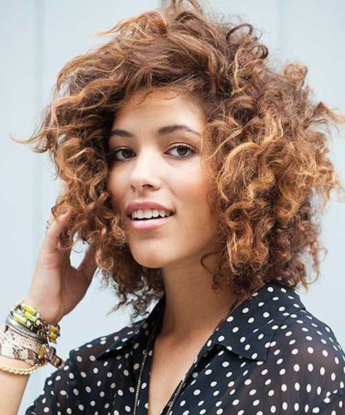 12.Short Haircut for Curly Hair