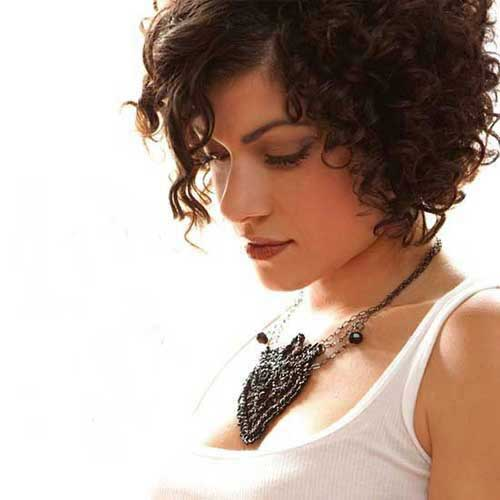 14.Short Haircut for Curly Hair