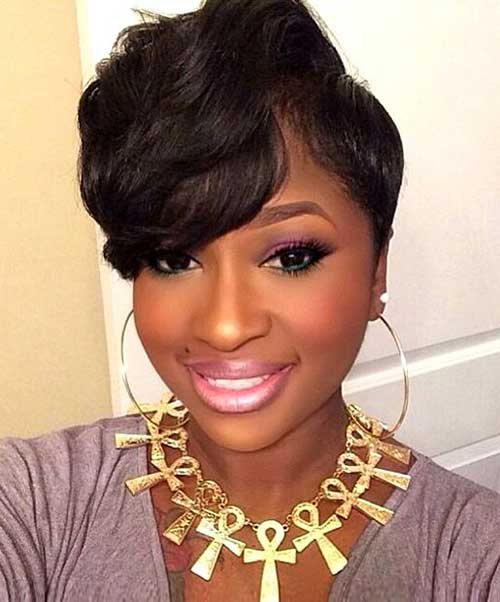 Short Hair Cuts for Black Women-15