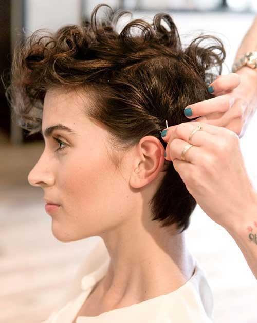 15.Short Haircut for Curly Hair