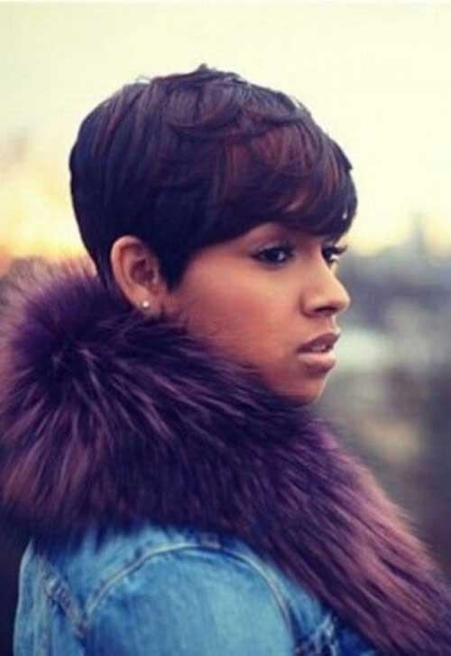 16.Short Hair for Black Women