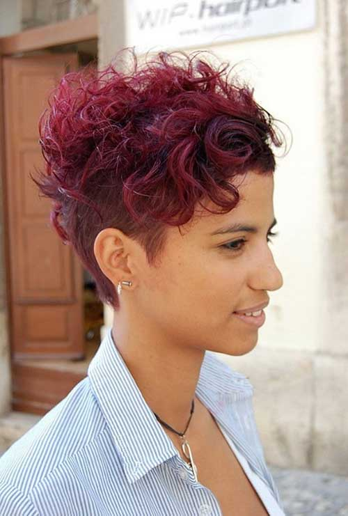 Short Red Curly Hair-21