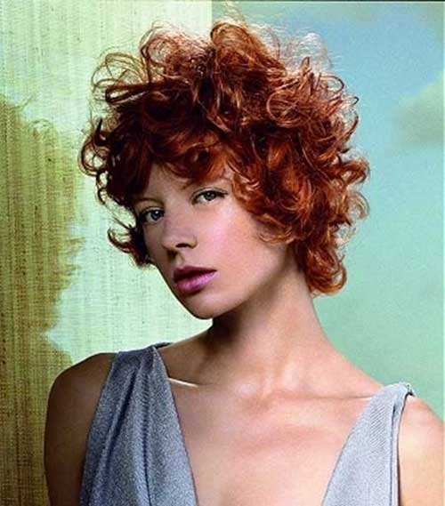 7.Short Red Curly Hairstyle