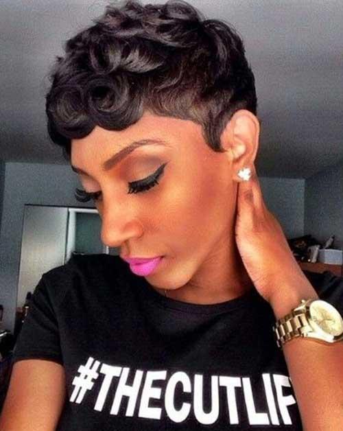 8.Short Hair for Black Women