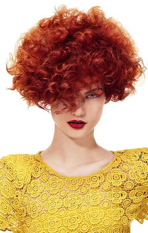 Short Red Curly Hair-8