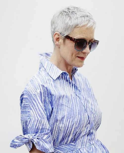 Short Hair Cuts For Older Women-9