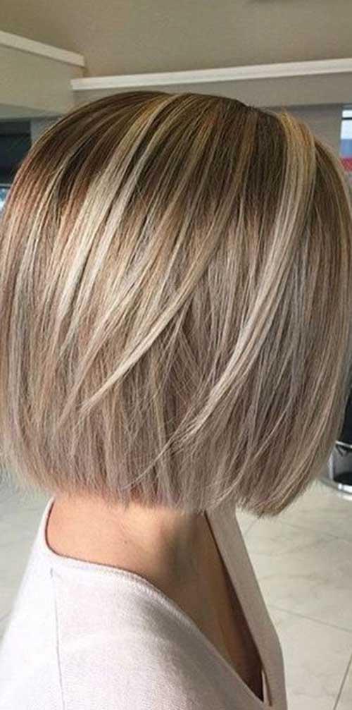 9.Short Hair Highlights 2015