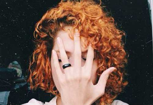 9.Short Red Curly Hairstyle