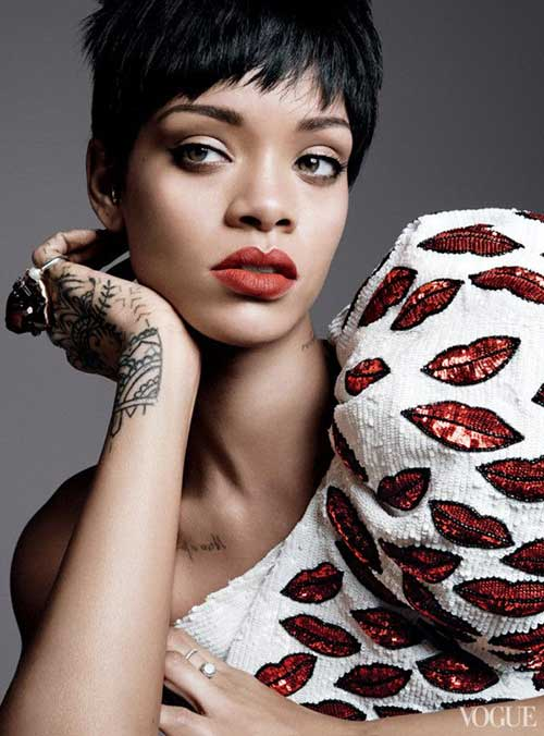Rihanna Pixie Haircut Pictures