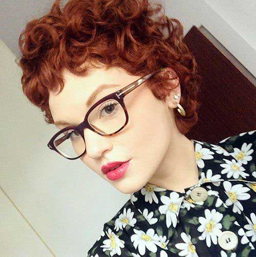 Short Curly Red Hairstyle