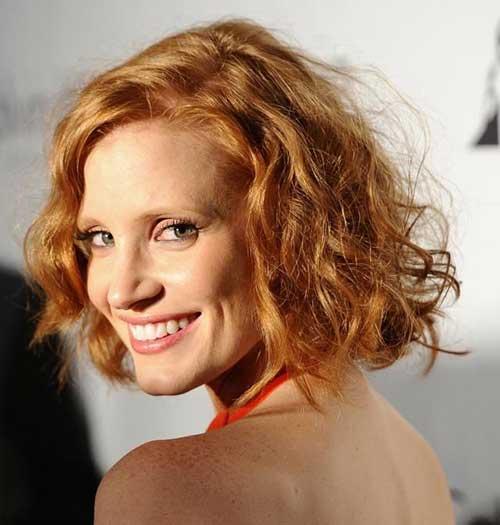 Short Cut Red Curly Hair