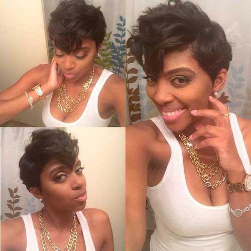 Very Short Hair Cut for Black Women