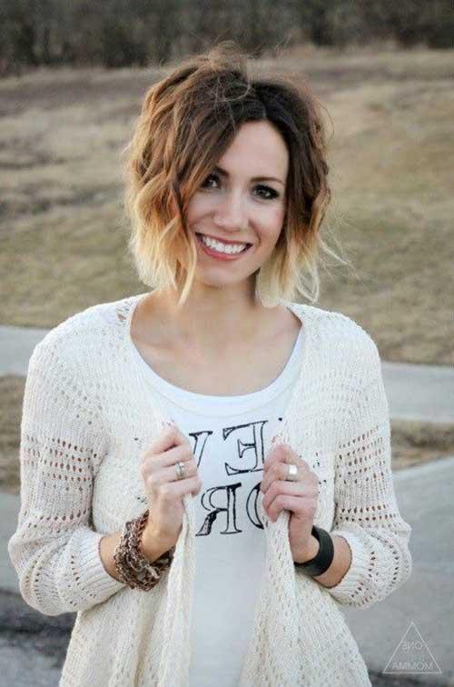 11.Ombre Color Short Hair