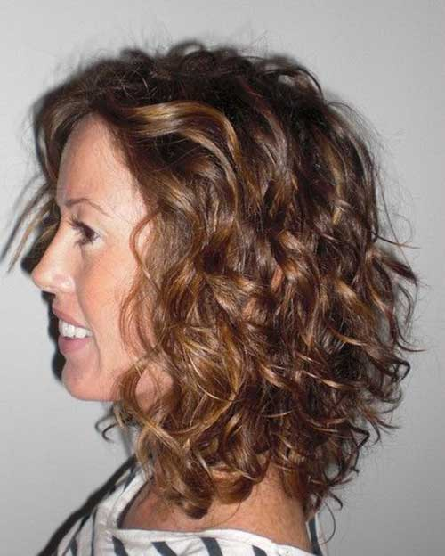 13.Short Curly Weave Hairstyle