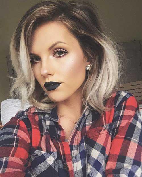 14.Ombre Color Short Hair