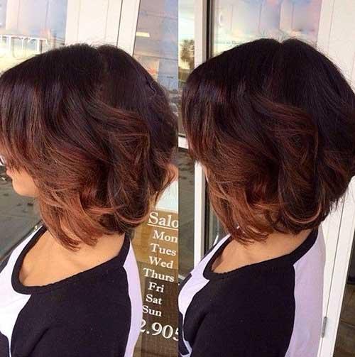 16.Ombre Color Short Hair