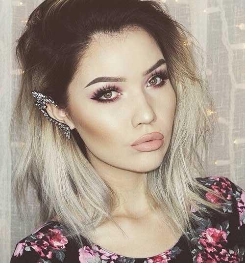 17.Ombre Color Short Hair