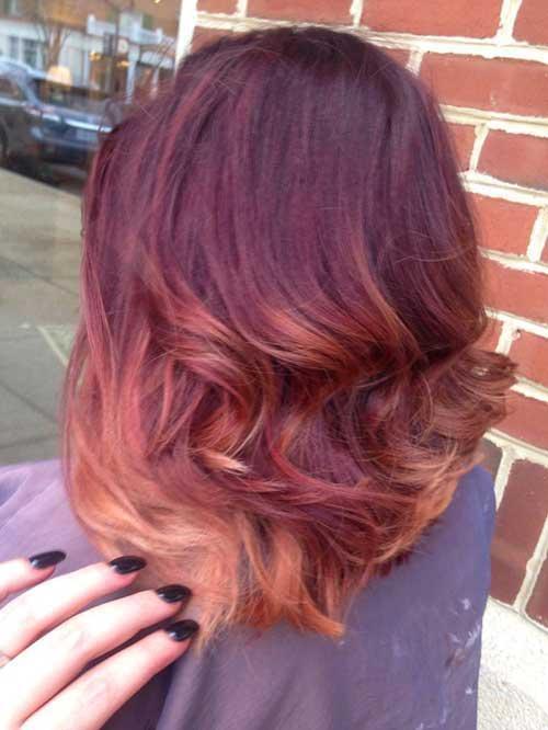 19.Ombre Color Short Hair
