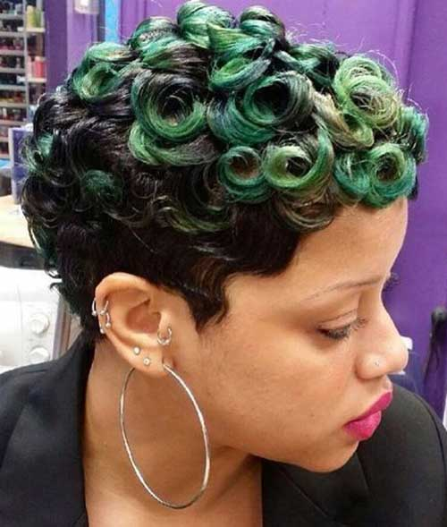 Short Curly Hairstyles for Black Women-20