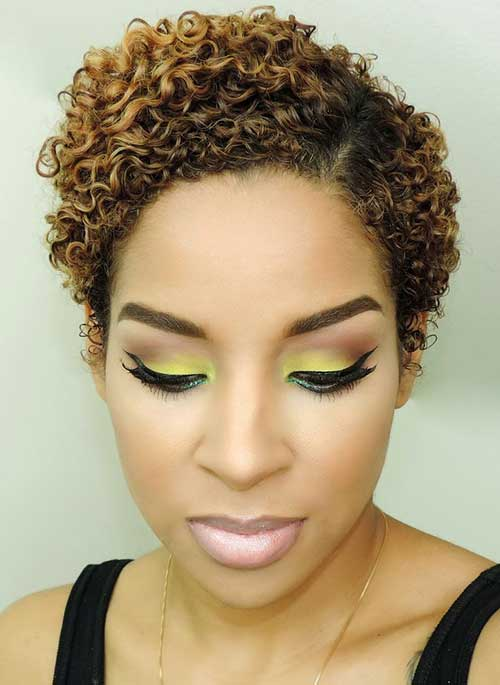 Short Curly Hairstyles for Black Women-21