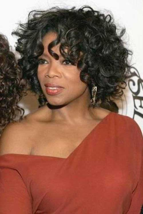 24.Short Curly Hairstyle for Black Women