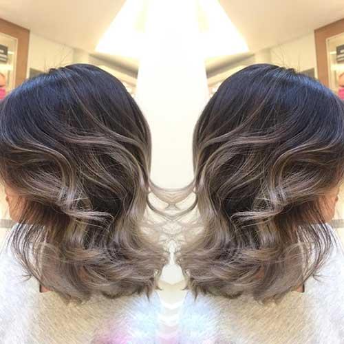 6.Ombre Color Short Hair