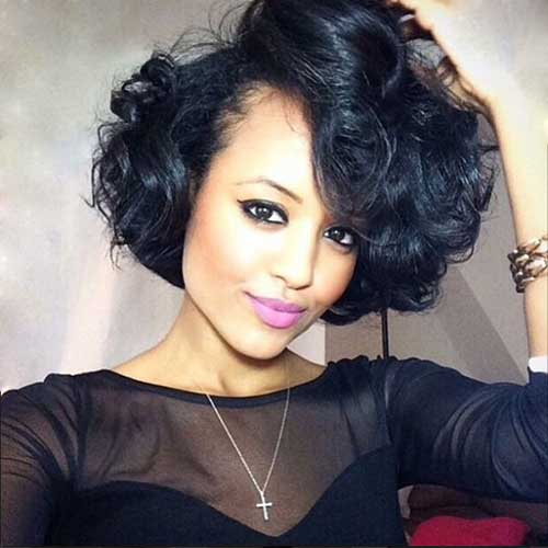 Short Curly Weave Hairstyles-7