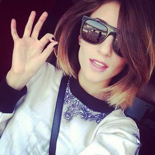9.Ombre Color Short Hair