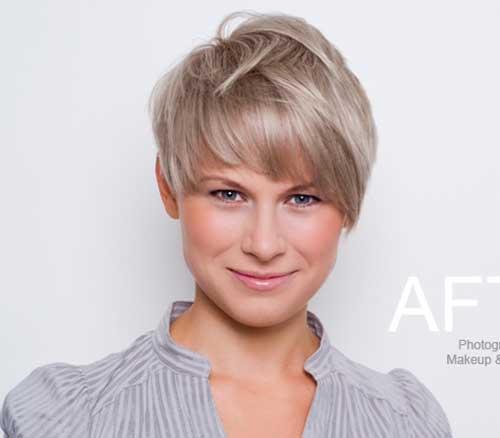 9.Short Haircut with Bangs