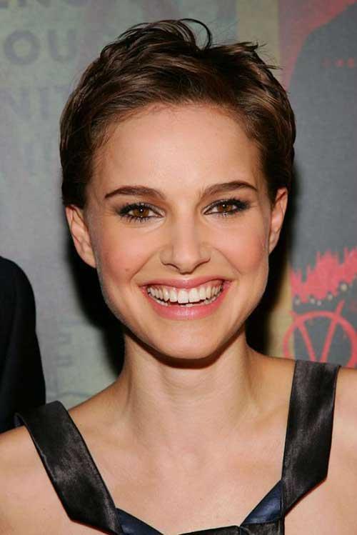 15 Nice Natalie Portman Pixie Cut Short Hairstyles - Finger Waves Hairstyles